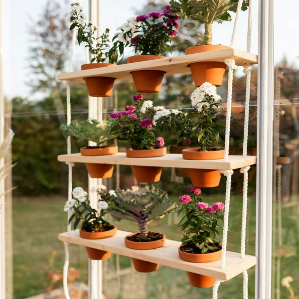 "24"" Wooden Plant Shelves"