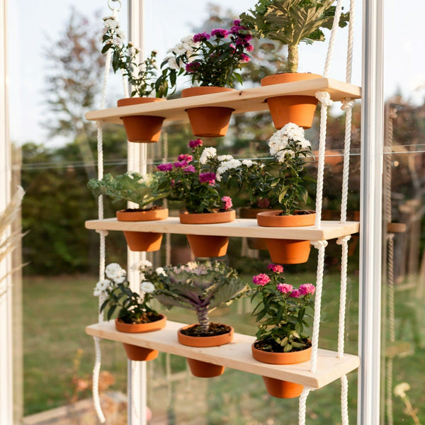 "20"" Wooden Plant Shelves"