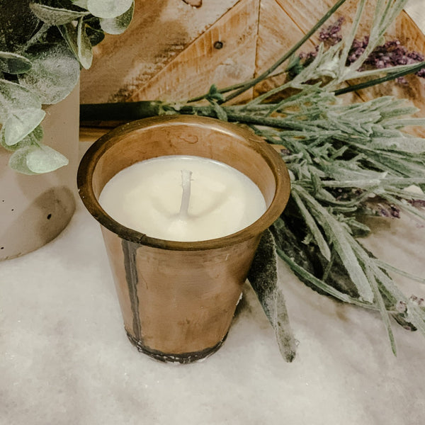 Sugar Mold Metal Cup Candles