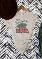 Merry Christimas Plaid Camper Tshirt