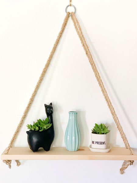 Single Hanging Rope Shelf