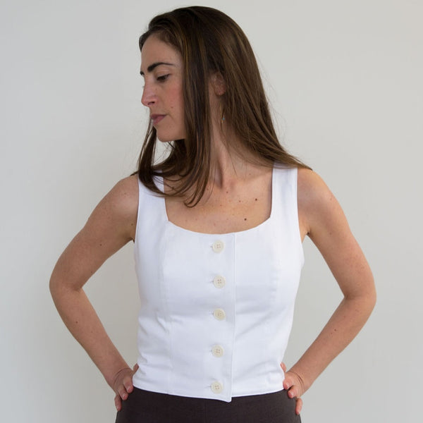 The Bodice Top, White