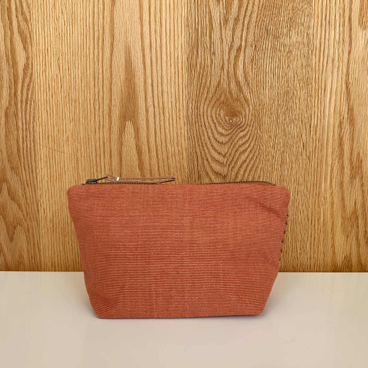 Mini Cristina Cosmetic Bag, Terracotta Weave