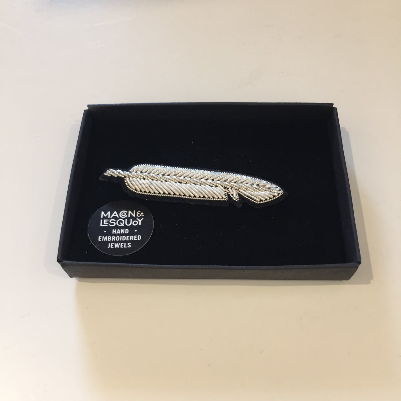 Silver Feather Pin