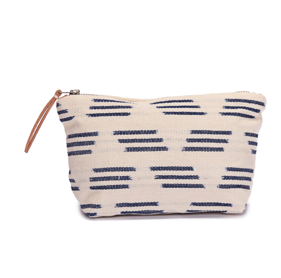 Mini Christina Cosmetic Pouch, Black/Blue/Cream
