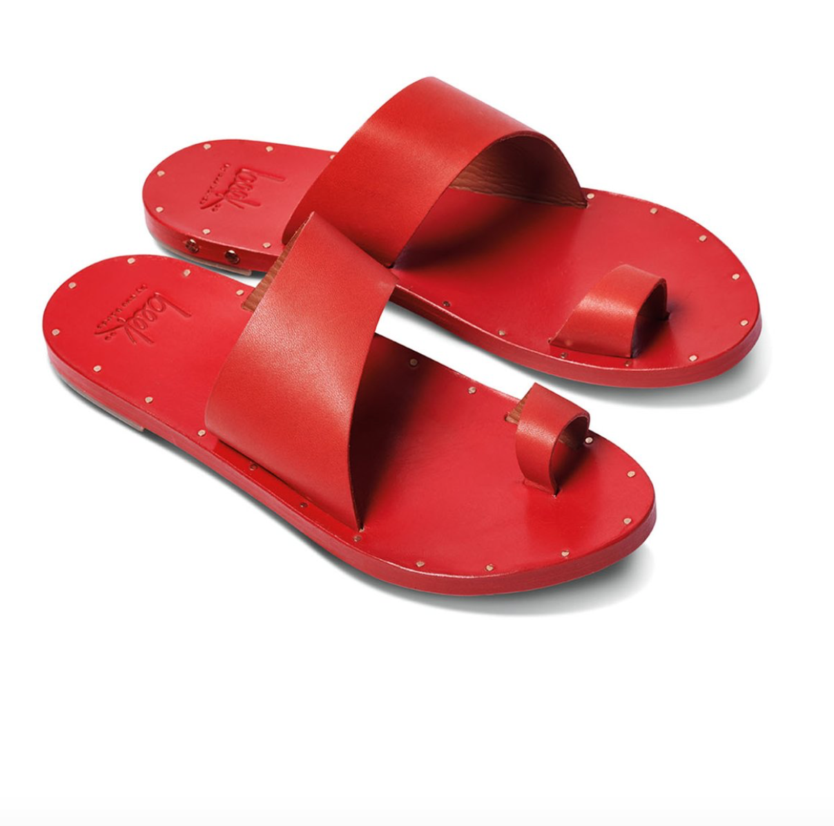 Finch Toe Ring Sandals, Red