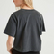 Relaxed Cropped Tee, Washed Black