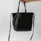 Three Way Tote, Black Leather