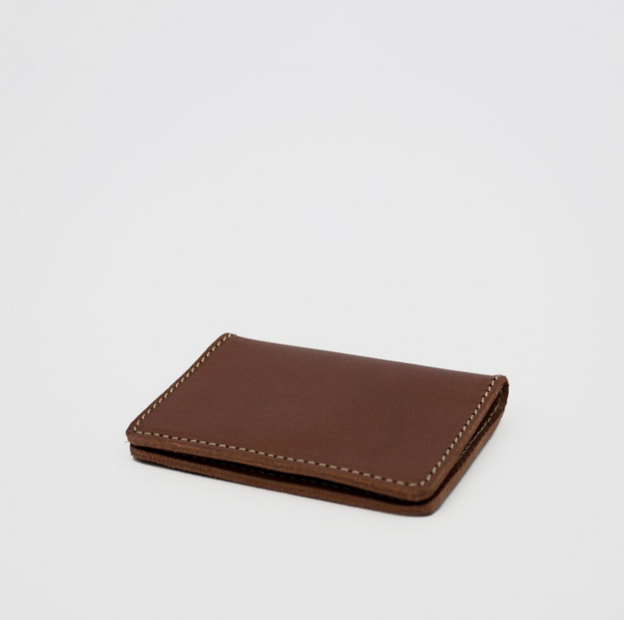 Bifold Card Holder, Chestnut