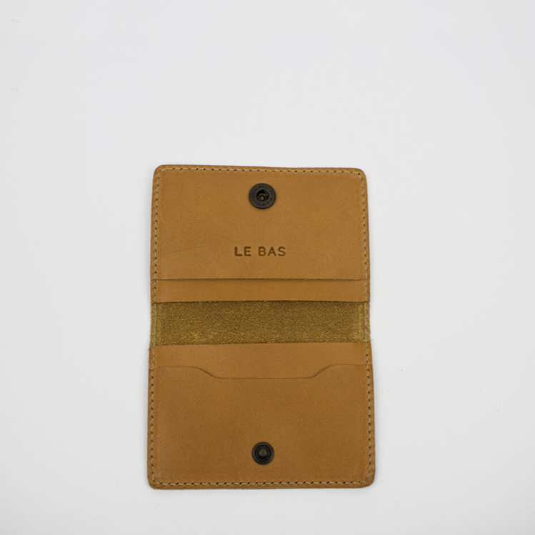 Bifold Card Holder, Tan