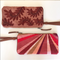Ines Wristlet Clutch, Tawny Fronds Embroidery