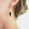 Onyx Gold Threader Earrings