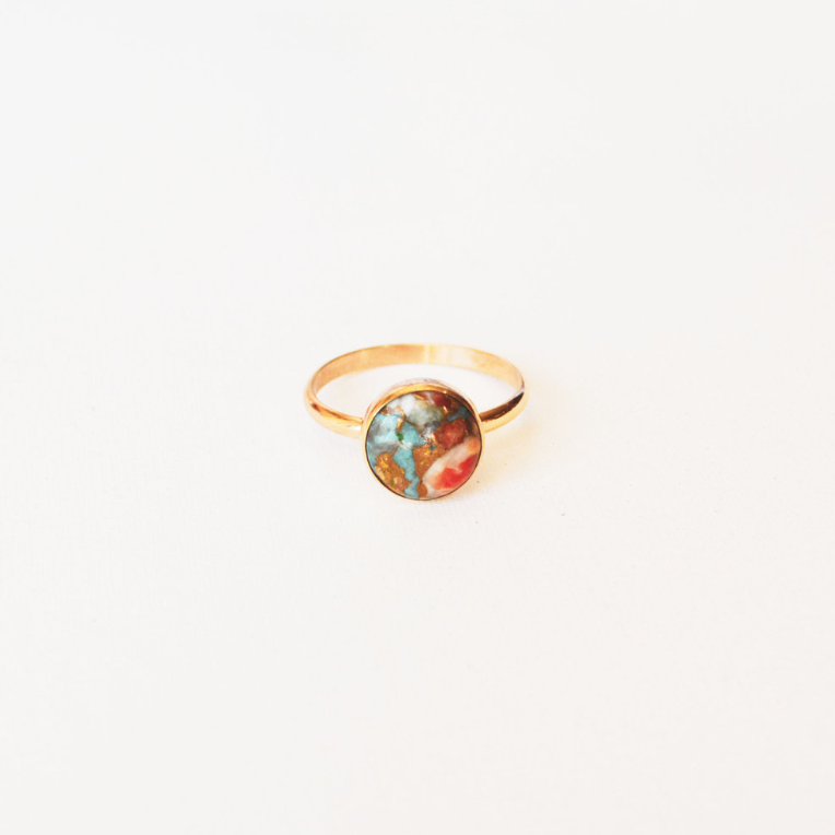 Oyster Turquoise Ring