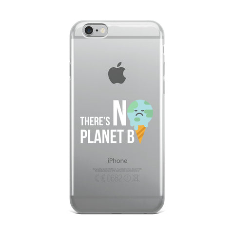 No planet B - Wit [IPHONE CASE]