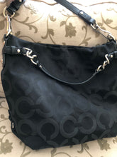 Load image into Gallery viewer, consignment bag - Coach larger, black canvas