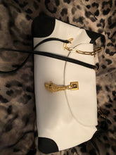 Load image into Gallery viewer, consignment bag - white and black leather