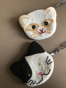 change purses - Kitty, beaded