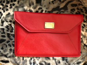 consignment bag - Michael Kors red clutch, or iPad case