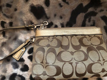 Load image into Gallery viewer, consignment bag - Coach gold +canvas