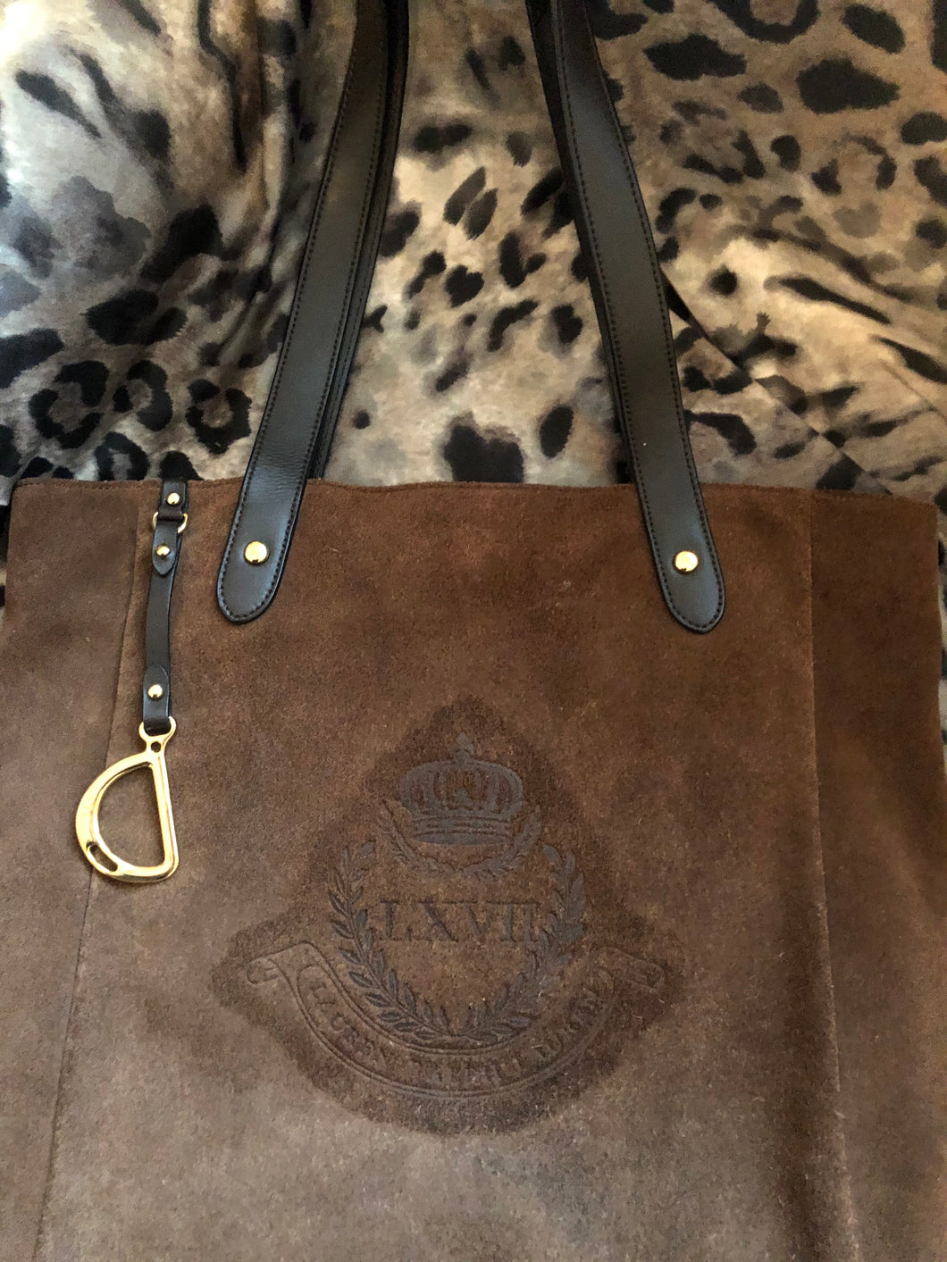 consignment bag - Ralph Lauren tote, brown suede