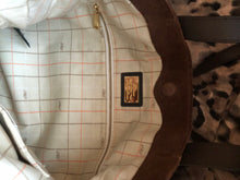 Load image into Gallery viewer, consignment bag - Ralph Lauren tote, brown suede