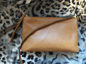 consignment bag - Fossil tan crossbody