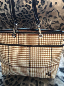 consignment bag - Ralph Lauren, small plaid tote