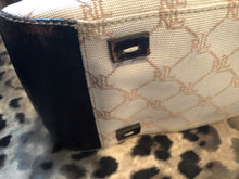 Load image into Gallery viewer, consignment bag - Ralph Lauren tote, cream + dk brown