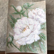 Load image into Gallery viewer, white peonies with blush