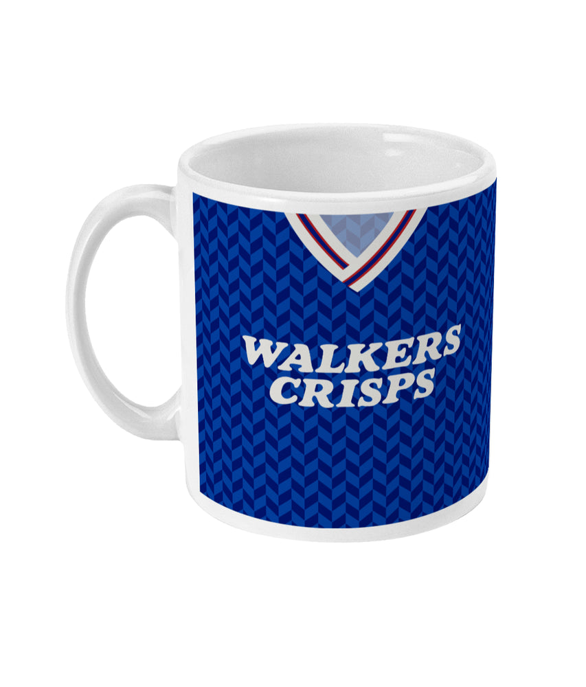 Leicester City 1987-88 Home Shirt Retro Football Mug