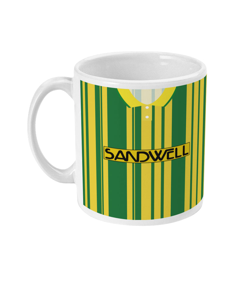 West Bromwich Albion 1991/92 Yellow Third Shirt Retro Football Mug