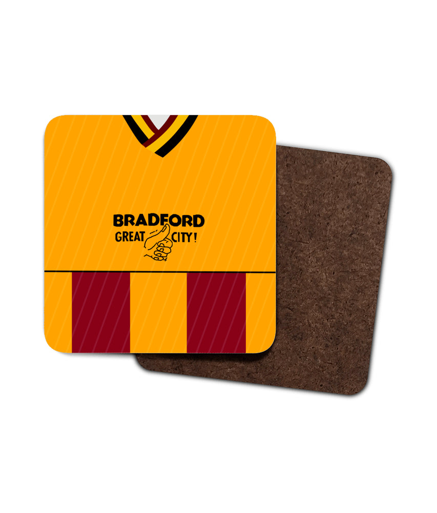 Bradford City 87-88 Home Shirt Coaster