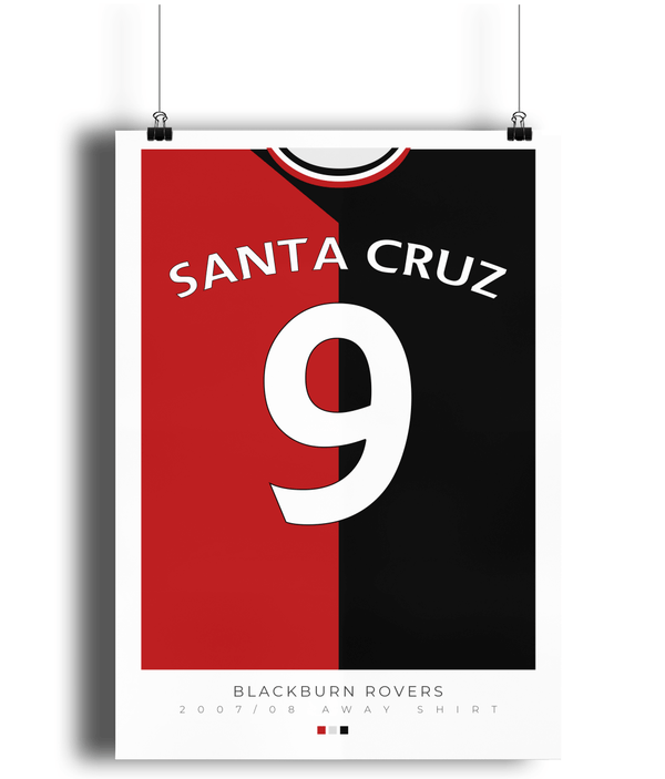 Blackburn Rovers Santa Cruz Poster