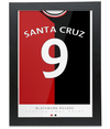 Blackburn Rovers Santa Cruz Print