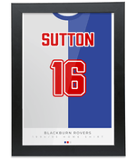 Blackburn Rovers 1994-95 Sutton Home Shirt Retro Football Print
