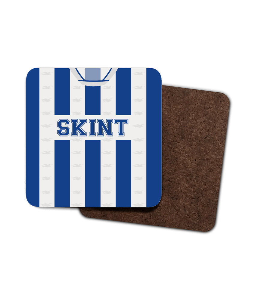 Brighton 2002/04 Home Shirt Retro Football Coaster