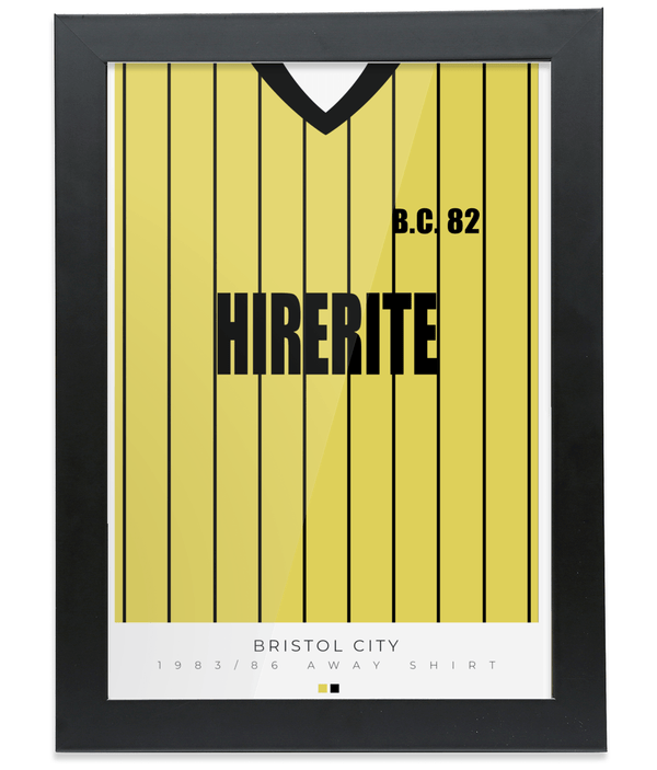 Bristol City 83-86 Away Poster