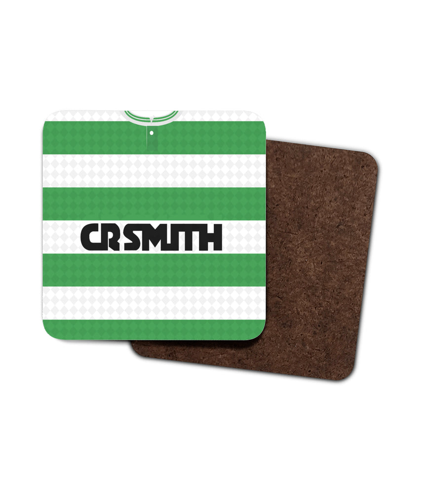 Celtic 1987-89 Home Shirt Retro Football Coaster