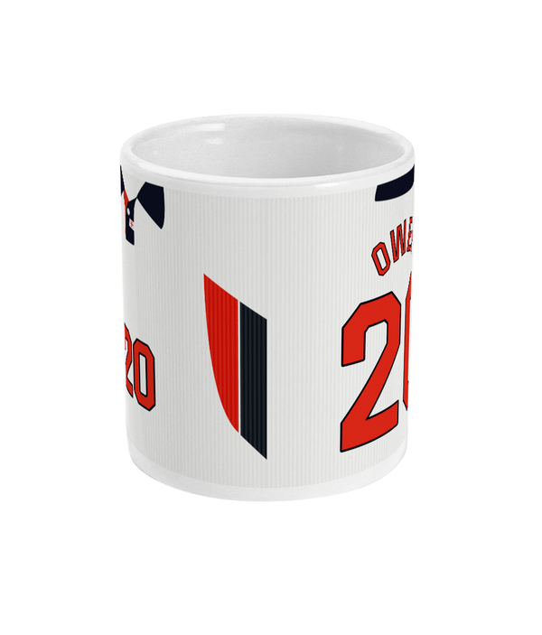 England 1998 Owen Home Shirt Retro Football Mug