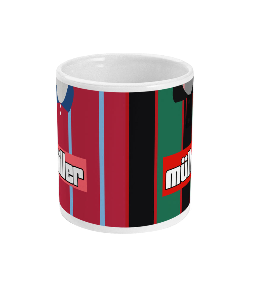 Aston Villa 1995 Home & Away Shirt Retro Football Mug