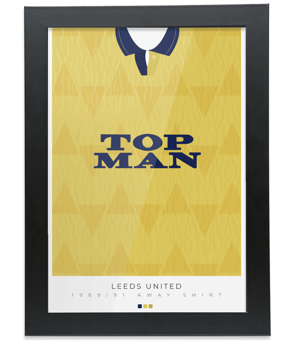 Leeds United 1989-91 Away Shirt Poster