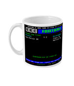 Arsenal 1 - 2 Birmingham City 2011 League Cup Final CEEFAX Result Mug