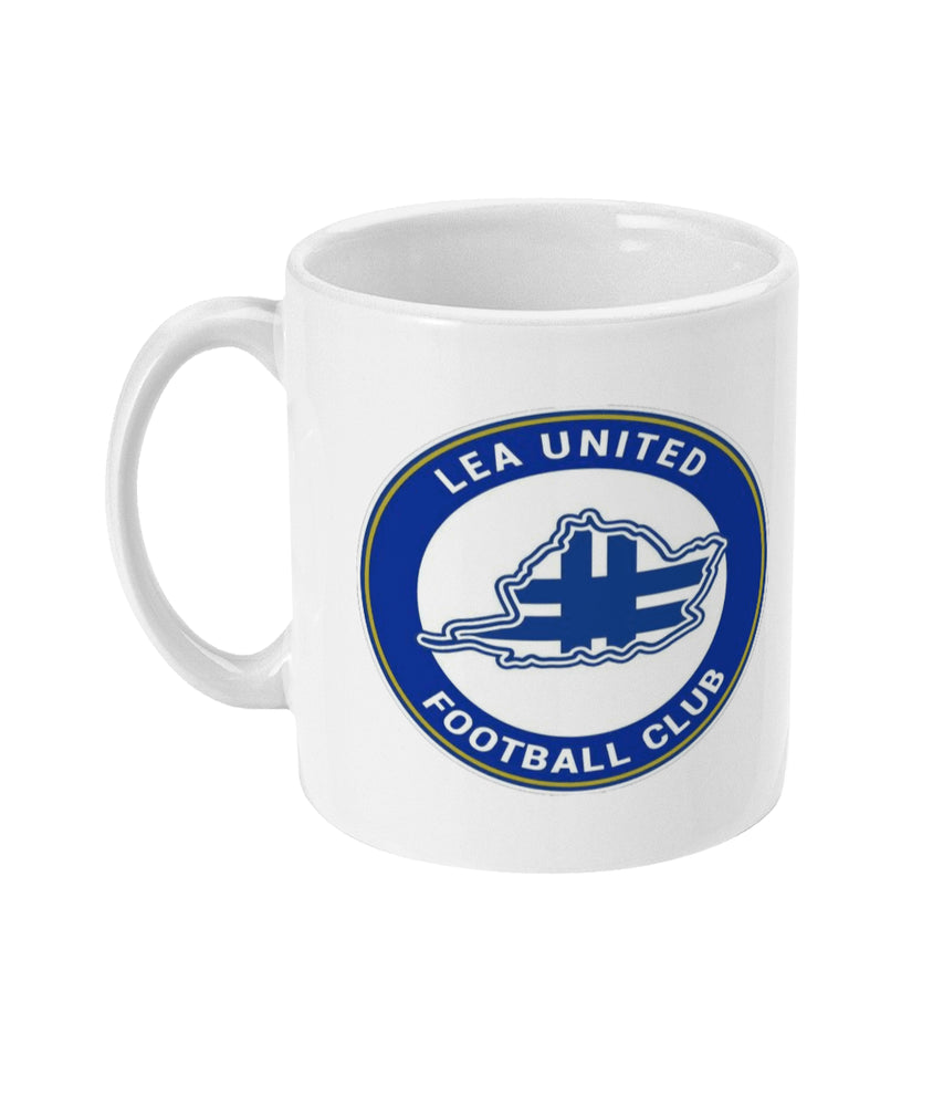 Lea United White Badge Football Mug