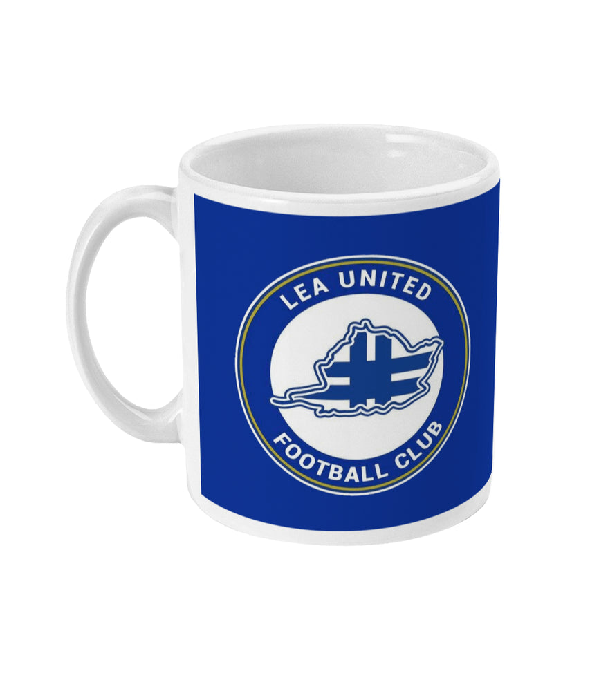 Lea United Blue Badge Mug