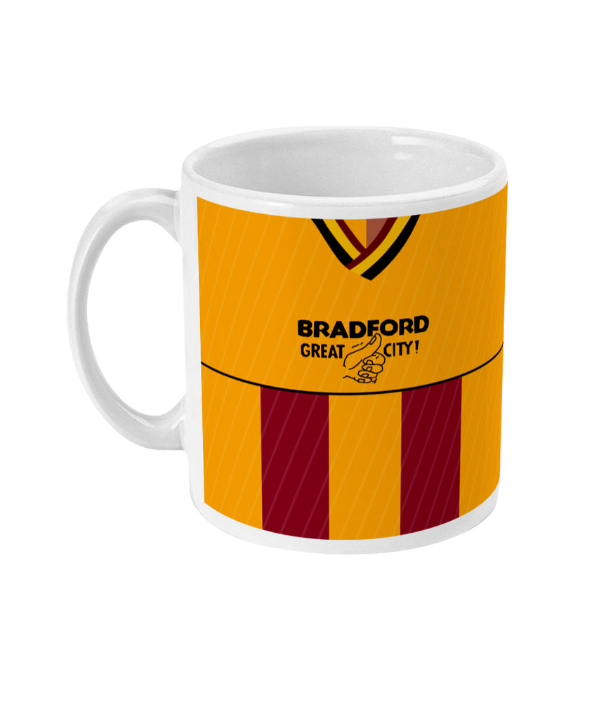 Bradford City 1987/88 Home Shirt Retro Football Mug