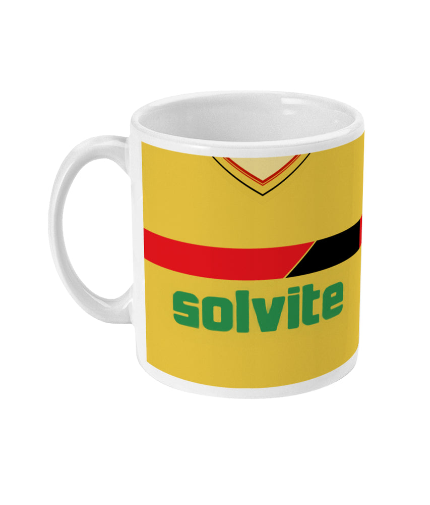 Watford 1986-87 Home Shirt Retro Football Mug