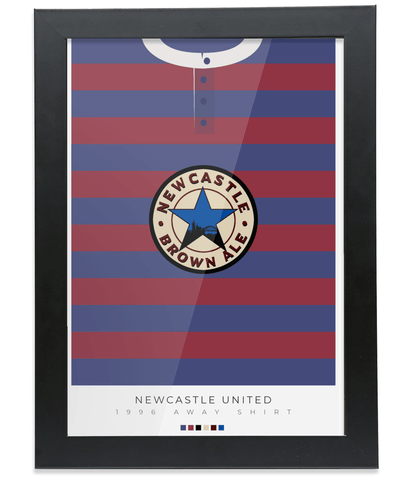 Newcastle United 1995/96 Away Shirt Poster