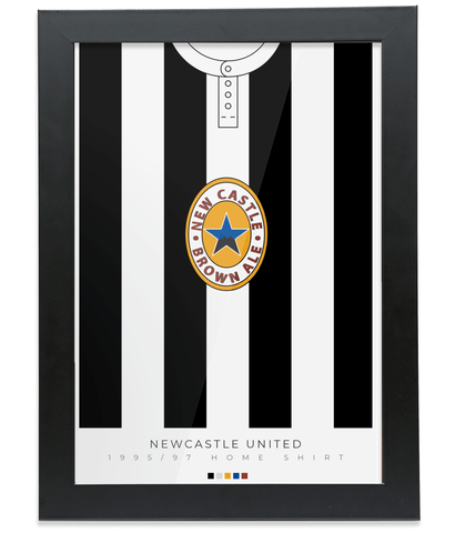 Newcastle United 1995-97 Home Shirt Poster