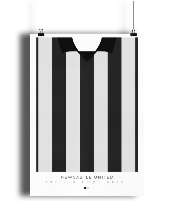 Newcastle United 1978/80 Home Shirt Poster