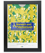 Norwich City 1992-94 Home Shirt Retro Football Print